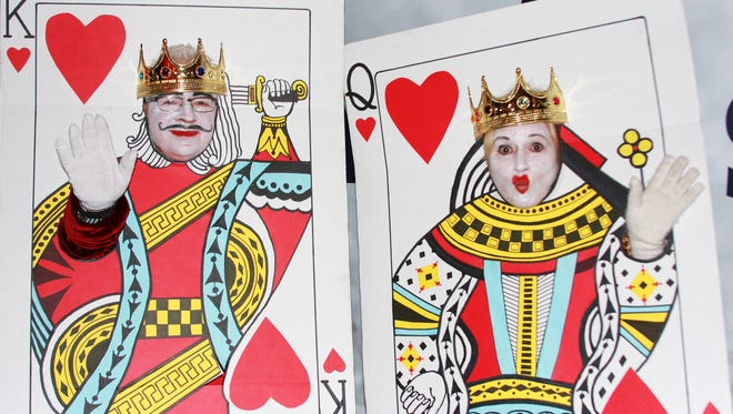 Rob and Pat Drake from Jerome dressed as The King and Queen of Hearts for Firekeeper Casino's Annual Halloween Costume Contest