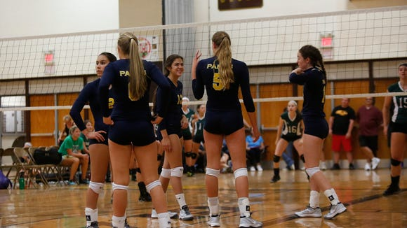 Panas takes on Yorktown at the Vikings Volleyball Tournament at Clarkstown South High School in West Nyack on Saturday, September 24, 2016.