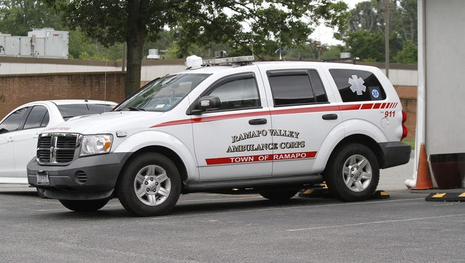 Ramapo Valley Ambulance Corps vehicle parked at the headquarters in Suffern.