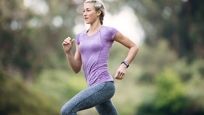 A jogger sports Microsoft Band.