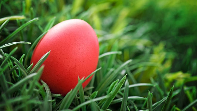 Red Easter egg.