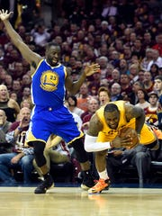 Cleveland Cavaliers forward LeBron James (23) is fouled