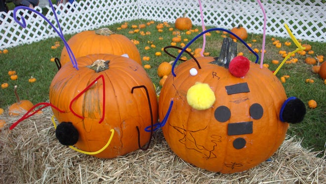Kids decorated pumpkins at a previous Fall for the Arts at the Alliance for the Arts in Fort Myers.