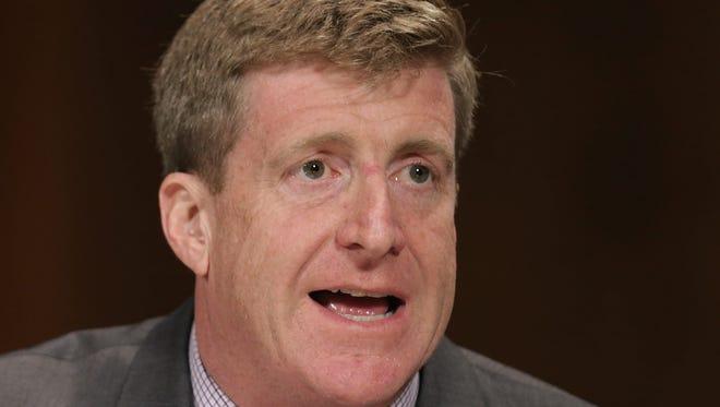 Former representative Patrick Kennedy testified Thursday at a Senate hearing on mental health.