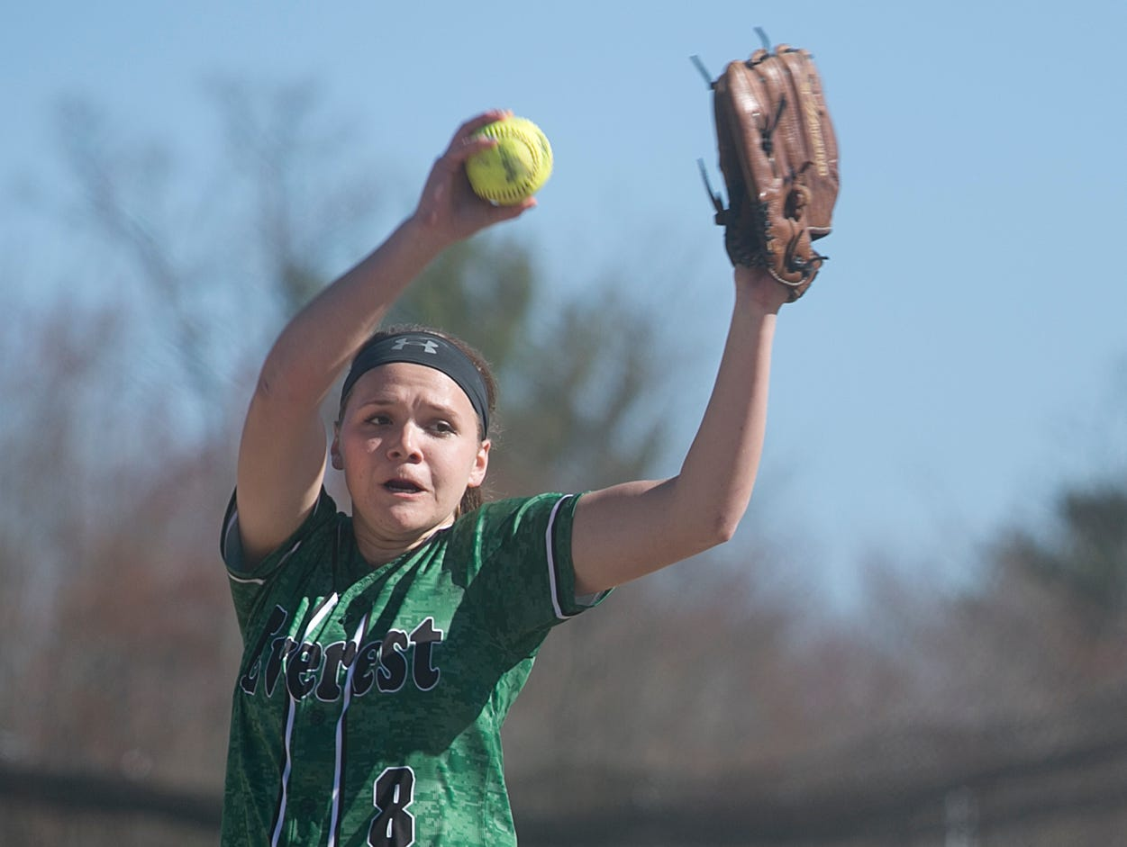 D.C. Everest's Miranda Gajewski pitches during a Wisconsin Valley Conference softball game Thursday against Wisconsin Rapids at Lincoln High School in Wisconsin Rapids.