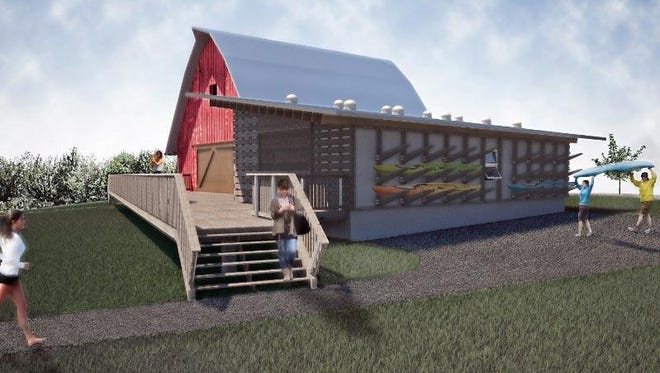 The new Creekside Center at the Finger Lakes Museum in Branchport, Yates County, will feature a reclaimed 19th century barn. Construction starts July 15, 2015.