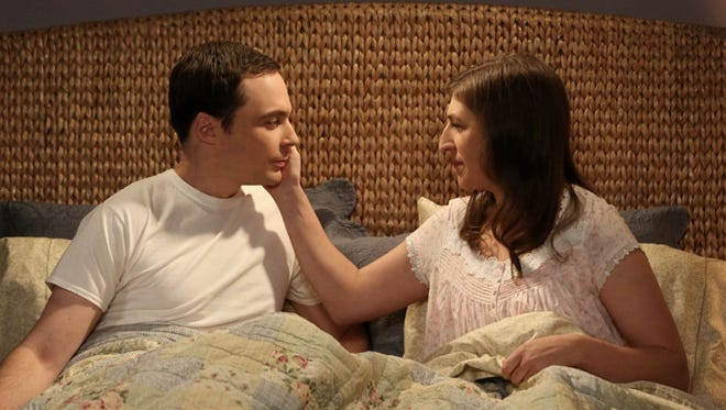 Amy and Sheldon end up in an unusual place, together in bed, in Thursday's episode of CBS's 'The Big Bang Theory.'