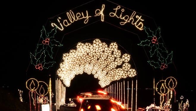 Don't drive past Prescott Valley without taking a turn through the Valley of Lights. This 1-mile drive in Fain Park is illuminated by thousands of twinkling lights and displays.