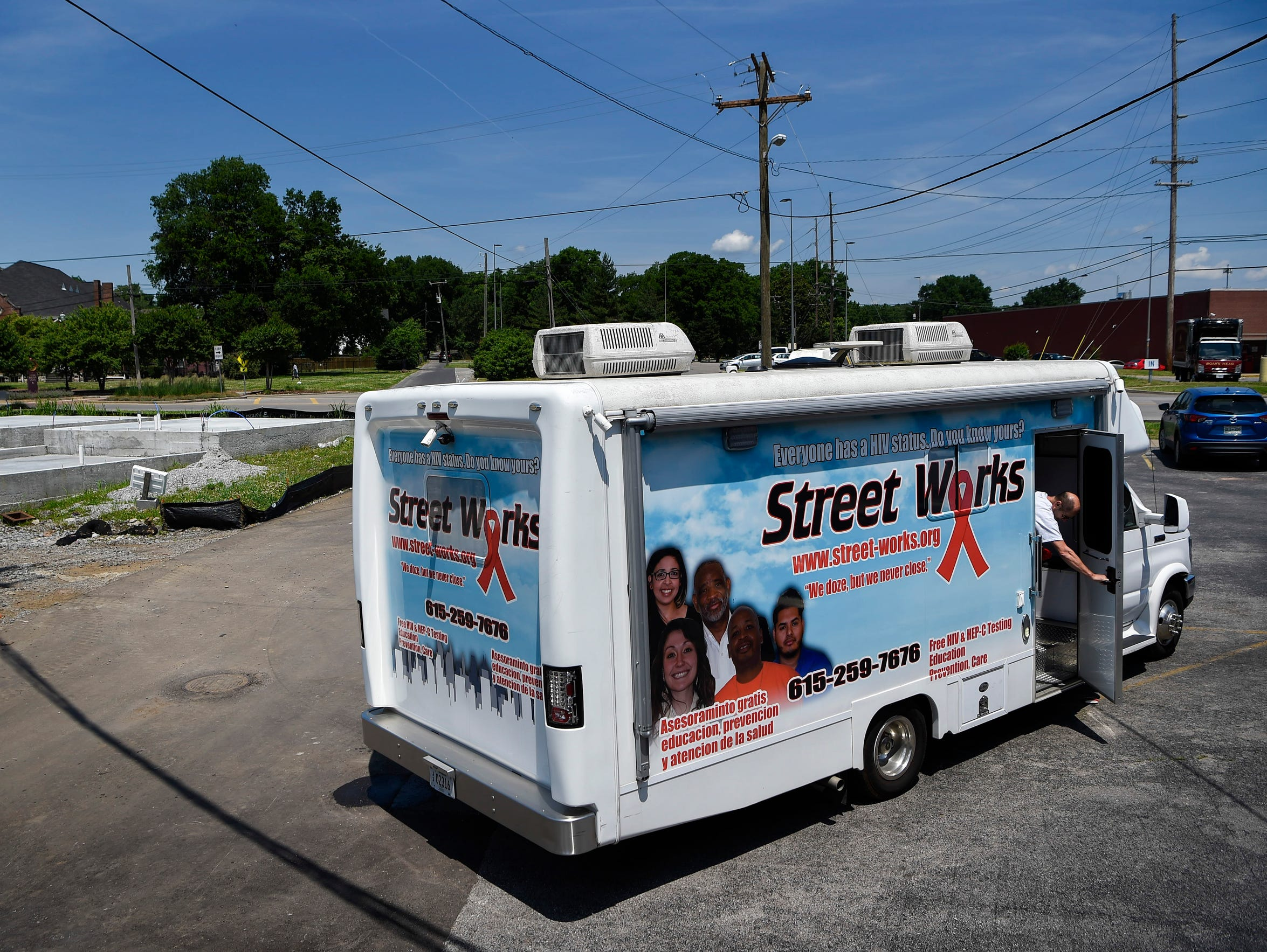 The StreetWorks RV, photographed on May 25, is the