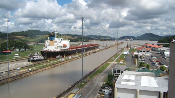 The expected completion of the Panama Canal expansion