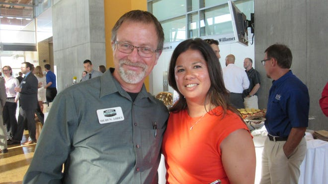 Shawn Abbey and Naomi Tillery attend the Salem Chamber of Commerce Vision Initiative event on June 9.