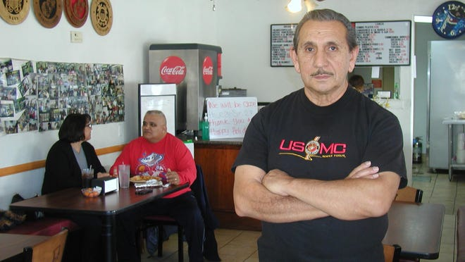 Louis Medina Jr. is a former Marine who takes his food seriously, opening up Medina and Friends Restaurant along North Court Street.