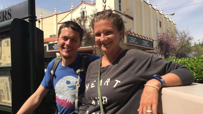 Cole and Elizabeth Donelson, who call themselves the Switchback Kids, spent time in Visalia on March 19 before hitting the trails in Sequoia National Park. The couple has taken a year off to travel all 59 U.S. national parks.