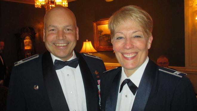 Col. Daniel Yenchesky and Col. Betsy Schoeller at the Armed Forces Dinner in 2016.