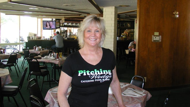 Kathy Simmons started out as bartender and wound up owner of the three businesses that form the Pitching Wedge restaurant, bar and catering services.
