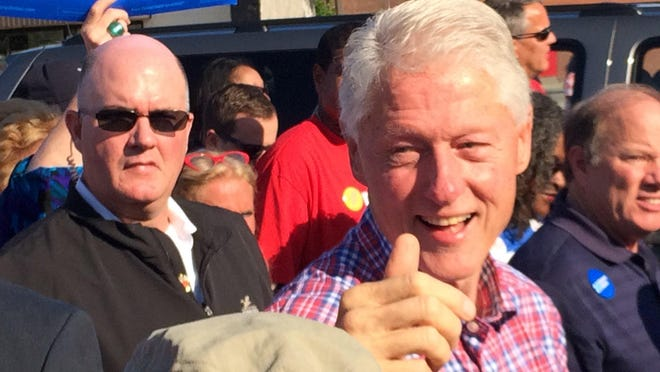 Former President Bill Clinton is participating in the long march