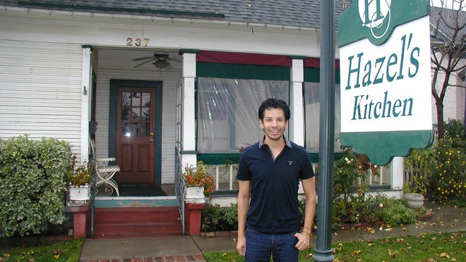 Daniel Enriquez is owner of Hazel's Kitchen, a popular soup, salad and sandwich shop occupying the ground floor of what had been an early 1900s home.