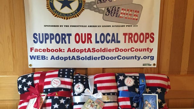 Nancy Hutchinson created the volunteer-run nonprofit Adopt-a-Soldier Door County, which sends care packages to deployed troops. Packages include basic toiletries, nonperishable food, games and toys, as well as letters from students at area schools.