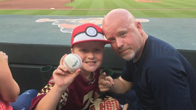 Columnist Corey Clark had a blast with his 9-year-old son, Brady, at Camden Yards in Baltimore this summer. Clark is leaving the Tallahassee Democrat after 10 years with the newspaper.