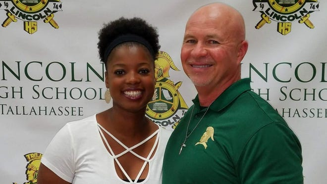 Former successful Marianna, Graceville and Malone basketball coach Matt Anderson, alongside wife Quay Anderson, was introduced Wednesday as Lincoln High School's new basketball coach.