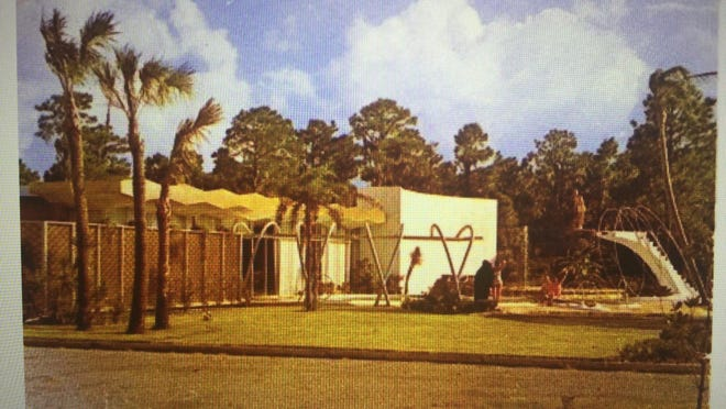 The one-time home of AM station WAPE in Orange Park featured a swimming pool and diving board young listeners could use.