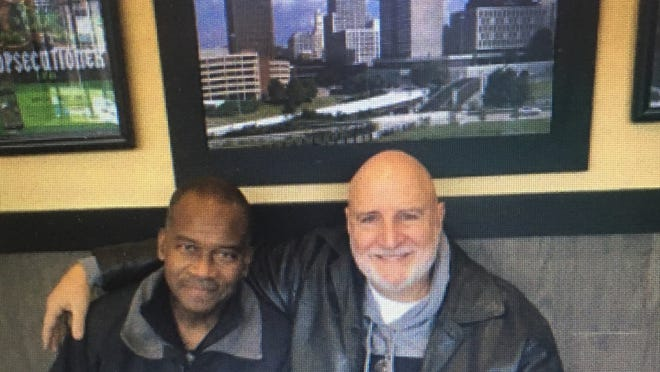 Marv Hodges, left, senior pastor of Bridging the Gap Ministries, and Tom Bloom, lead pastor of Community Vineyard Church, will speak Sunday on the topic of racism.