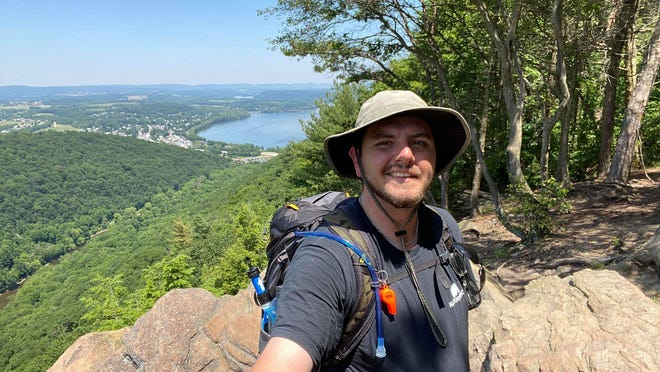 Daniel Bradshaw, 26, of Chambersburg often section-hikes 20-50 miles of the Appalachian Trail at a time.