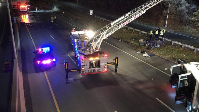 A 22-year-old Akron man was killed in a wrong-way crash Nov. 27 on state Route 8 near Bailey Road in Cuyahoga Falls.