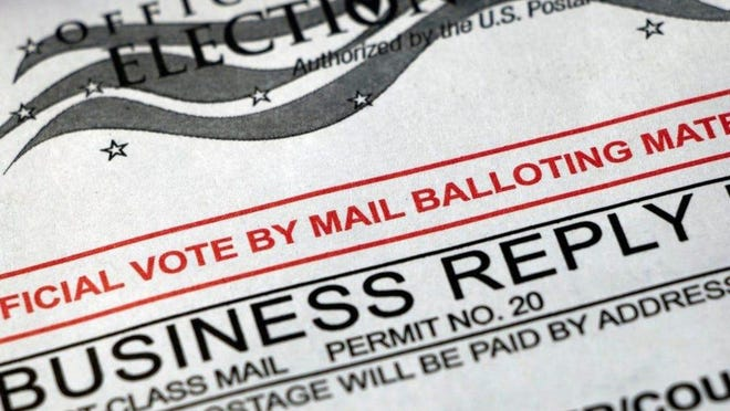 When a mail-in ballot is received, county election officials compare the voter's signature on the envelope to the signature on file with the voter's application to vote by mail.