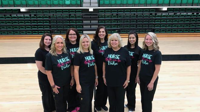 Van Buren School District nurses are seen in a group shot at the school district website. The nurses include Tara Dorrough, Rachel Bond, Amanda Reese, Brook Parks, Lisa Elkins, Amber Anderson, Sherri Marvin, and Ashley Fleming.