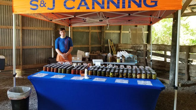 A vendor poses for a photo at The Market at Luscombe Farms, which is scheduled Sept. 13 and 27 in Anna.