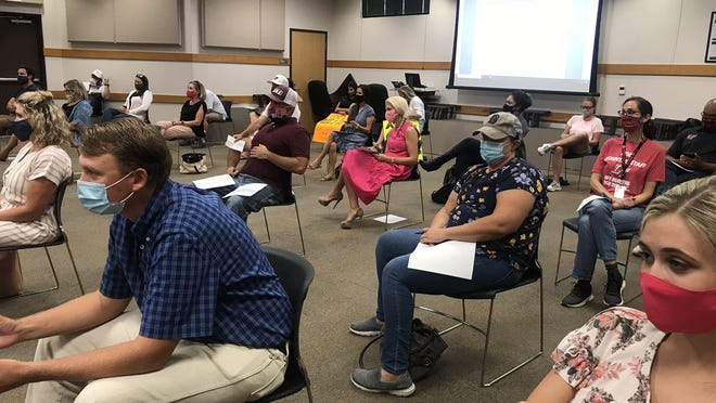 Crowds of Lake Travis parents spoke out during a special called board meeting Aug. 31 calling on the district to open schools as planned on Sept. 8.