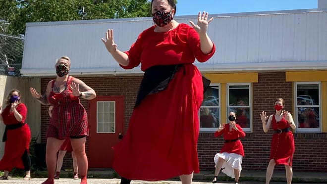 Dancers perform during the fifth annual Kate Bush Flash Dance in Somersworth recently.