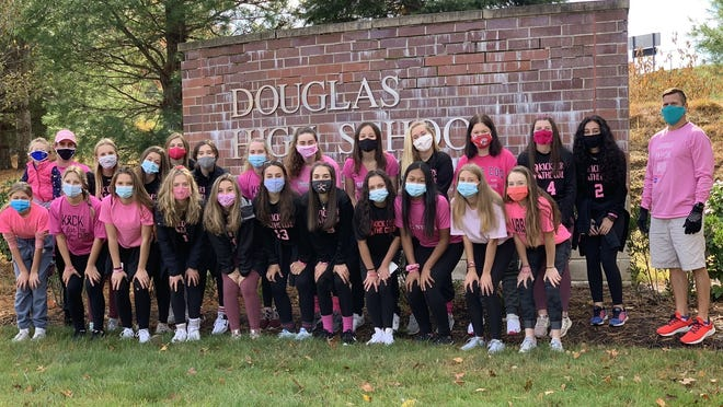 The Douglas High girls' soccer team raised $375 during the 3.1-mile Making Strides Breast Cancer Walk on Sunday morning.
