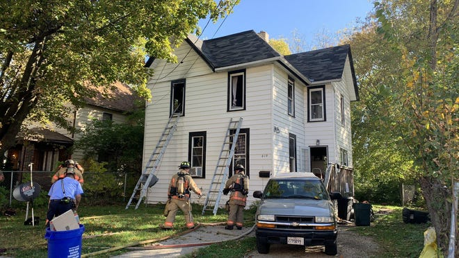 Three people were injured Thursday in a house fire in the 600 block of Furman Street in Rockford.