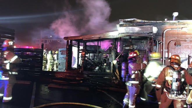 Southside Flying Pizza on South Lamar Boulevard remains open following a Friday morning fire.