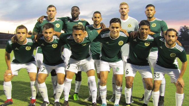 The Savannah Clovers men's soccer team from earlier this year.