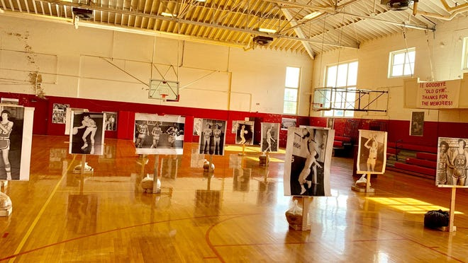 "The Hendersonville High School Gymnasium and some of the athletes who played basketball there. Patrick Gallagher recently authored the book ""Hendersonville High School Gymnasium, 1937- 2020,""  now on sale in time for Christmas."