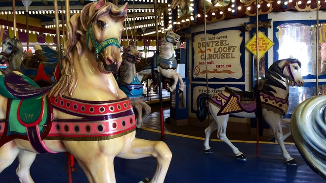 The Casino Pier carousel, which was built in 1910, has been in Seaside Heights since 1932.