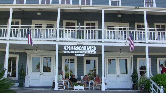 The historic Gibson Inn is one of Apalachicola's most well-known accommodations.