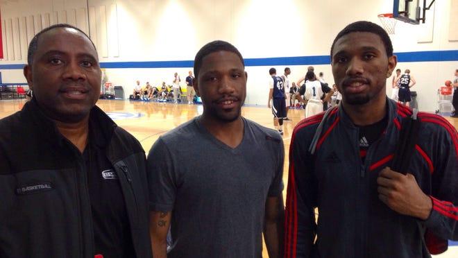 Left to right, Eric Gordon Sr., Evan Gordon and Eron.