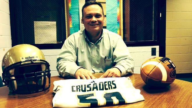 Brendan Gebert is the new football coach at Morris Catholic.