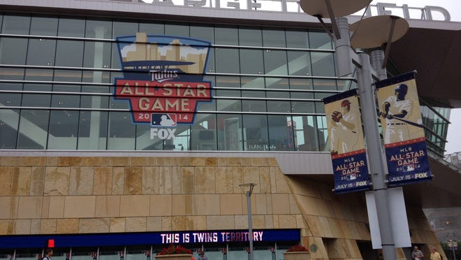 Main entrance to Target Field, site of Sunday Futures Game and MLB All-Star events.