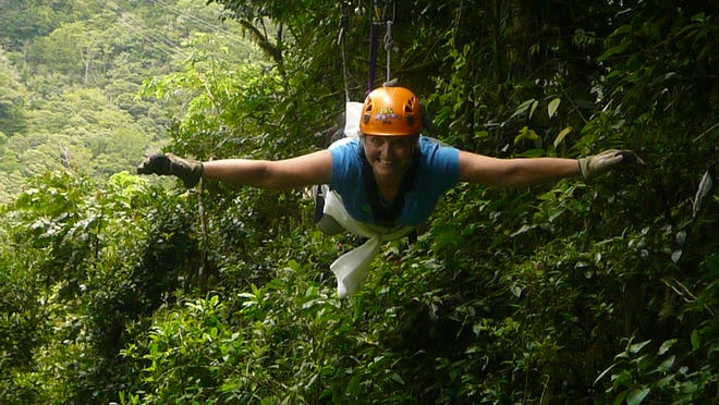 Vicki Ullery loved ziplining above the canopy.
