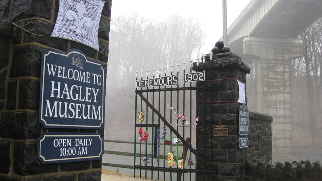 Kennett Square fiber artist Sharon Silverman decorated Hagley Museum's gates to draw attention to a new exhibit that focuses on a single run. Page T6.