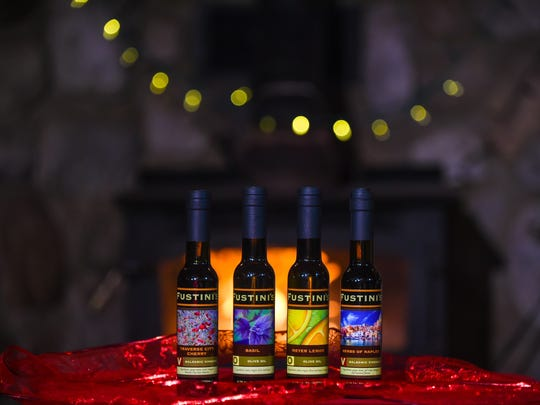 Fustini's 4-pack gift set includes a Blueberry Balsamic vinegar made with Michigan blueberries.