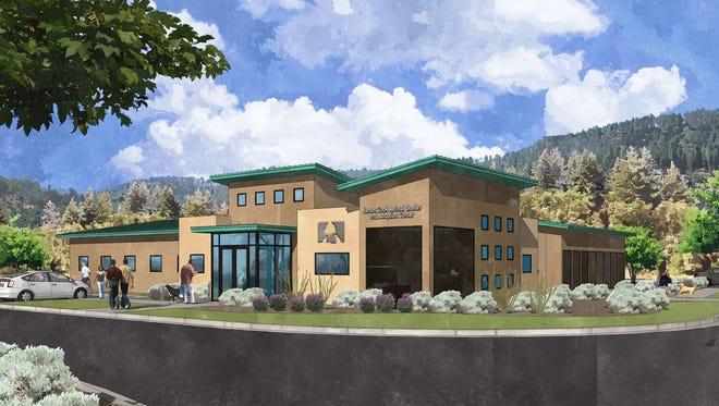 An architect's rendering of the New Humane Society of Lincoln County's James Cook Animal Shelter and Adoption Center to be built on U.S. 70.
