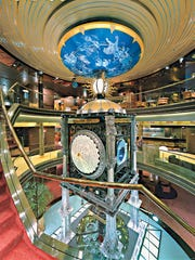 The Arrium of the MS Amsterdam, a Holland America Line