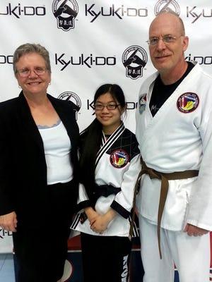 Master Linda Imler, from left, Sarah Fields, and David Fields.