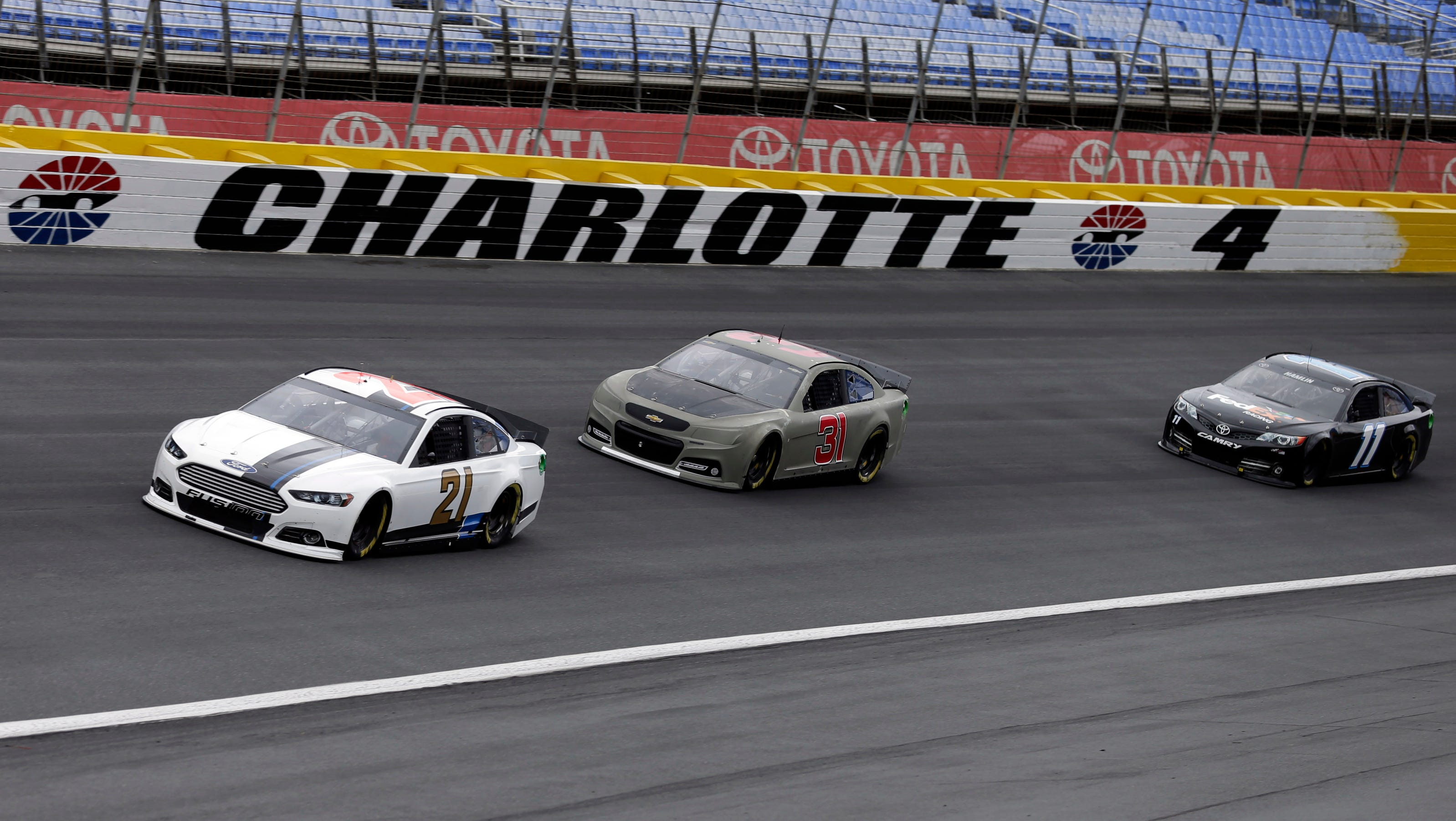 Nascar seeks ways to improve passing at charlotte test for Charlotte motor speedway zip code